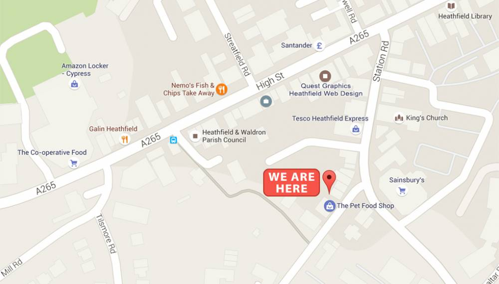 Pet-Food-Store-Heathfield-map