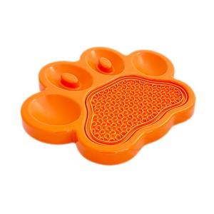 Orange slow feeder